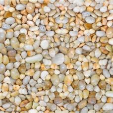 Галька шлифованная 5-10 мм 1 кг Желтая