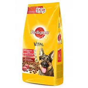Pedigree Vital с Говядиной для взрослых собак крупных пород, 13 кг