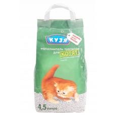 Наполнитель для кошачьего туалета Кузя для котят, уп. 4,5 л