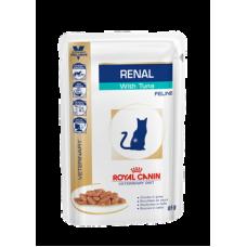 Влажный корм в соусе диетический для взрослых кошек Royal Canin Renal с тунцом 85 гр.